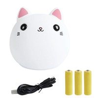 USB Colorful Silicone Cat LED Night light lamp Animal Soft Cartoon Lamps Xmas Christmas Gift For Children Baby Nursery