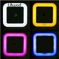 LitwodZ30LED Bedroom night light baby lights kids beside wall lamp Romantic for children with motion auto Sensor home lights