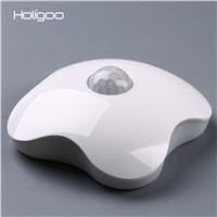 Holigoo Night Light Luminaria Floral Night Lights Human Body Auto Motion Baby Night Light Lamp Wall LED Sensor Four Leaf Clover