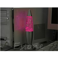 USB Multi-Color Changing Lava Lamp LED Glitter Mood Night Light Party Decoration-Y103
