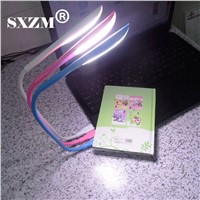SXZM Flexible Mini USB LED Light 3 Level light with touch button 14Leds Portable Lamp for Laptop Notebook PC Computer