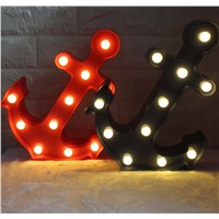 Meaingsfull 2017 New 11 Led Anchor Plastic Marquee NIght Light Dark Blue/Red Indoor Wall Lamps For Home Living room Decorations