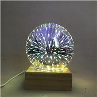 3D colorful Magic crystal glass lamp Creative home decoration table lamp romantic bedroom Bedside atmosphere Night Light