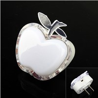 Energy-saving LED Apple Shaped Colorful Nightlight Wall Lamp Home Decoration    CLH