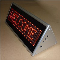 Single Side Triangle LED Programmable Message Scrolling Display Board, Store Desk Led Sign/Digital Bar Screen