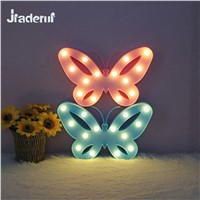 Jiaderui 3D Marquee Butterfly Led Night Light Christmas Table Lamps for Kids Children Gift Wedding Party Room Decoration