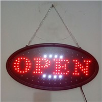 "19""x10"" LED Neon Light Open Sign Animated Oval Open Sign,LED Neon Sign with Motion"