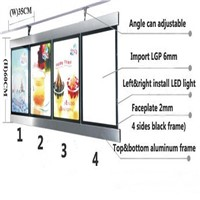 (2 Graphics/column) Single Sided Illuminated LED Menu Board Signs,Menu Led Light Box for Hotel,Restaurant,Cafe,Takeaway