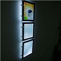(3unit/Column) A3 Single Sided Magnetic Cable Window Displays and Wire Hanging Systems for Real Estate,Gallery,Art