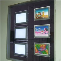 (5unit/Column) A3 Double Sided Magnetic LED Light Boxes,Wire Cable & Suspension Display Systems