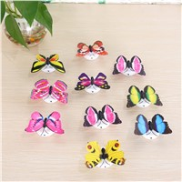 5pcs Colorful Luminous Butterfly Night Light Home Room Party Wedding Decoration Lights Lamp With Sticker Children Kids Gift P25