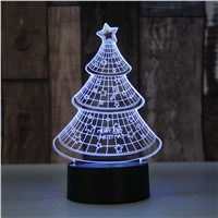 Christmas gifts 3D night light for children led night light lamp baby kids rooms light christmas tree decorations light