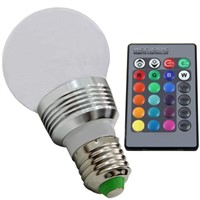 Wireless remote control LED colorful light bulbs Color a full range of energy-saving lamps RGB bulb intelligent dimmer E27 screw