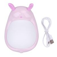 Electrodeless Cartoon LED Silicone Cattle Rabbit Night Light Touch Colorful Bedside Lamp Children Cute Night Lamp Bedroom Light