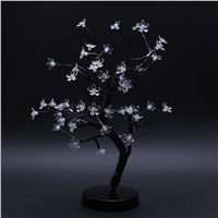 Night Light LED Cherry Blossom Bonsai Tree Fairy Twig Lights Table Floor Lamps Romantic LED Night Lights for Home Garden