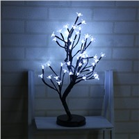 48 Heads Cherry Blossom Tree Night Lights Living Room Plum Blossom Tree Lamp LED Rose Night Lamp Home Fairy Wedding Decor