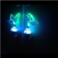 RGB LED Butterfly Night Light Fiber Optical Light Sensor Color Changing for Bedroom Children Room decor