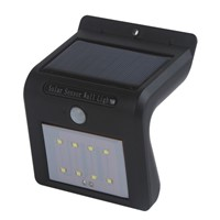 High Quality  8/16 LED Solar Lights Outdoor Solar Powered Motion Sensor Security Wall Light (Black)  Summer Outdoor Lighting