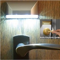 Auto PIR Door Lock Induction Lamp Door Keyhole IR Motion Sensor Heat Temperature Detector 4 LED Smart Night Light