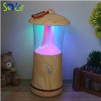 Creative Colorful Wood Grain Small Touch Night Light Portable USB Flash Lamp Camping Outdoor LED Lights