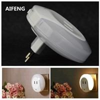 AIFENG night light with motion sensor  for children moon rabbit  eu baby 2A USB charging Mobile power supply plug lamp wall led