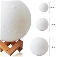 1pc New Creative 3D Print Moon Lamp with Touch-Sensing Switch 3D Lunar Lamp Color Changeable Night Lights For Decoration T0.2