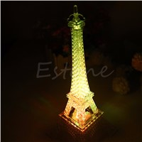 Eiffel Tower Night Light Decoration LED Lamp Desk Bedroom Lighting