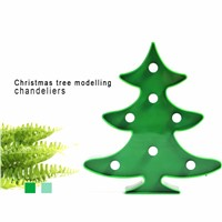 Lumiparty Marquee Sign Light 3D Night Lights Battery Christmas Tree LED Lamp Tree Smart Sign LED Lights For Christmas Decoration