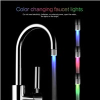 High Quality 3 Colors LED Water Faucet Light Changing Glow Shower Head Kitchen Tap Shower Stream