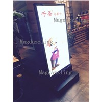 60x90CM Restaurant Outdoor Stand Double Sided LED Display Board,Mobile LED Light Box,Battery Powered Stand Light Boxes