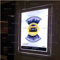 5PCS Ultra Slim Acrylic Frame LED Illuminated Wall Display Panels,Crystal Frame LED Advertising Light Boxes 60x70CM