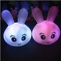 2PCS LED Animal Rabbit Head Shape Desk Night Light Lamp Home Atmosphere Lighting