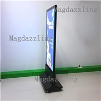 Restaurant Front Door Stand Double Sided Magnetic Frame LED Illuminated Menu Light Box,Mobile Advertising Lightbox