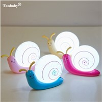 Tanbaby LED Night Light Cute Snail 4 Colours Night Light Lamp Party Christmas Decoration Colorful Night Lights Led Lamp