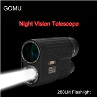 GOMU 8x32 Night Vision Monocular Telescope Multifunctional Compact telescope scope Built-in Rechargeable Flashlight for Hunting