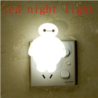 Creative energy saving led night light with switch white mini-plug socket infant sleep to urinate light bedside lamp  Best Gift