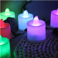 Romantic 24pcs Electronic Candle  Night Light Colorful LED Rechargeable Flameless Lamp For Party Wedding Birthday Decoration