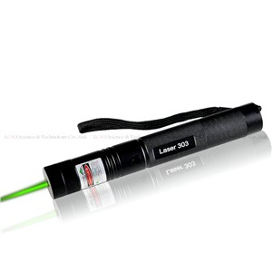 Laser Flashlight Laser 303 200mW Green Laser Pointer Adjustable Focal Length and Star Pattern Filter + 4000MAH Battery + charger
