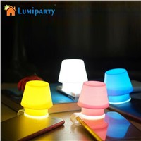 LumiParty LED Night light Transparent Silicone Phone holder Clip Cellphone Flash Light Lampshade for Any Phones Small Lamp