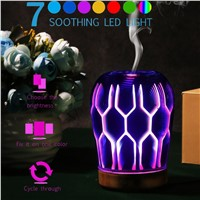 Colorful Bedside LED Night Light 3D Oil Aroma Diffuser Portable Humidifier Desk Table Lamp Christmas Gift Home Decor 90-100ml