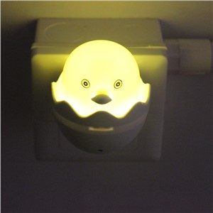 US EU Plug AC 110-220V Light Control Sensor Bedroom Lamp Cute Yellow Duck LED Night Light Home Decoration Wall Socket Lamps #KF