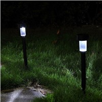 Lumiparty 10 Pcs Solar Powered LED Decorative Night Light Lamp Outdoor Garden Lawn Pathway Yard Driveway Lighting Kit for Home