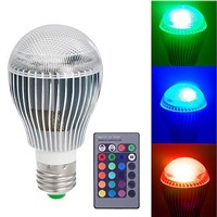 9W E27 RGB LED Spot Light Bulb Lamp Spotlight Color Changing Colorful Magic Lighting  with IR Remote Controller CLH