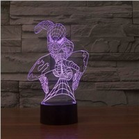 Creative Gifts Spiderman 3D LED Night Lights Desk Table Lamp for Decoration 7 Colors USB Power Source Spider Man Bulb
