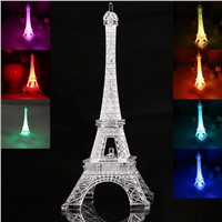 2017 Eiffel Tower Night Light Colorful LED Lamp In Bedroom Wedding Decoration Home Accessories Party Birthday Gift