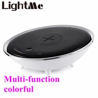 2017 New Popular Wireless Charger Colorful Night Light Atmosphere lamp Innovative technology red green blue yellow purple orange