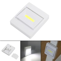 Eletorot Magnetic Mini COB LED Wall Light Night Light Camping Lamp Battery Operated with Switch Magic Tape for Garage Closet