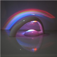LED Rainbow Projector Room Night Light Color Lamp Magic Romantic