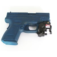 2 in 1 quick detachable pistol mounted led light with green laser sight combo
