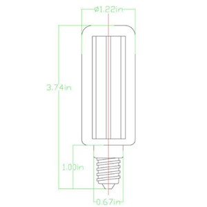 Light Bulb E14 36W LED SMD5050 Low Power Lamp Base AC 220 V   --M25